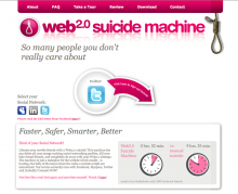 moddr Web 2.0 Suicidemachine