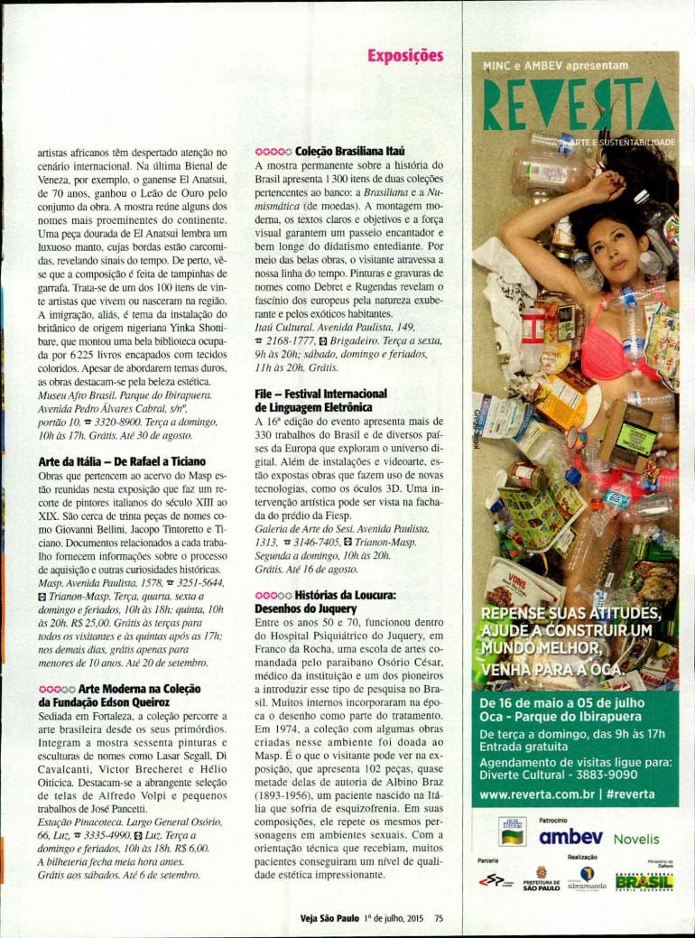 01-07-2015 - Revista Veja São Paulo