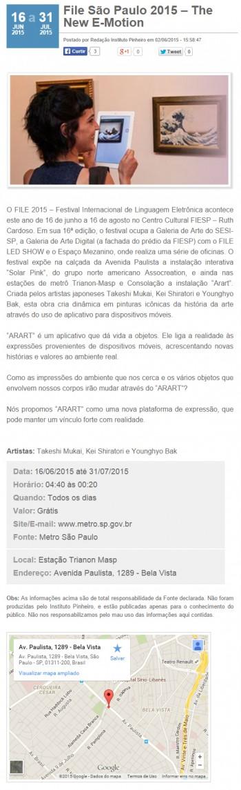 02-06-2015 - Instituto Pinheiro - SP