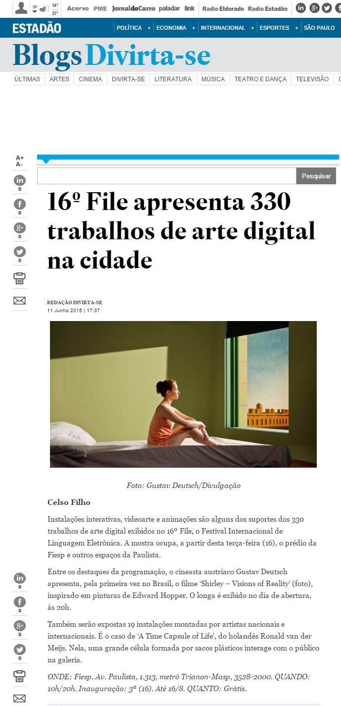 11-06-2015 - Estadão