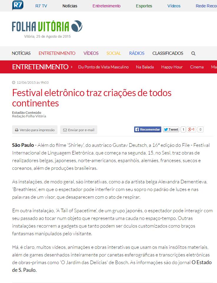 12-06-2015 - Folha Vitória - ES copy