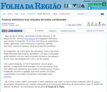 12-06-2015 - Folha da Região Online - SP