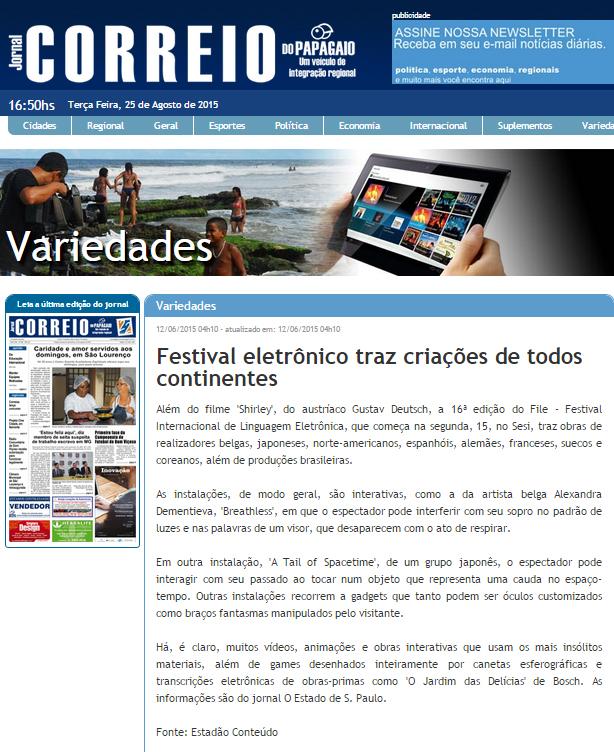 12-06-2015 - Jornal Correio do Papagaio - MG