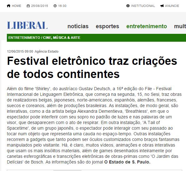 12-06-2015 - O Liberal Online - SP