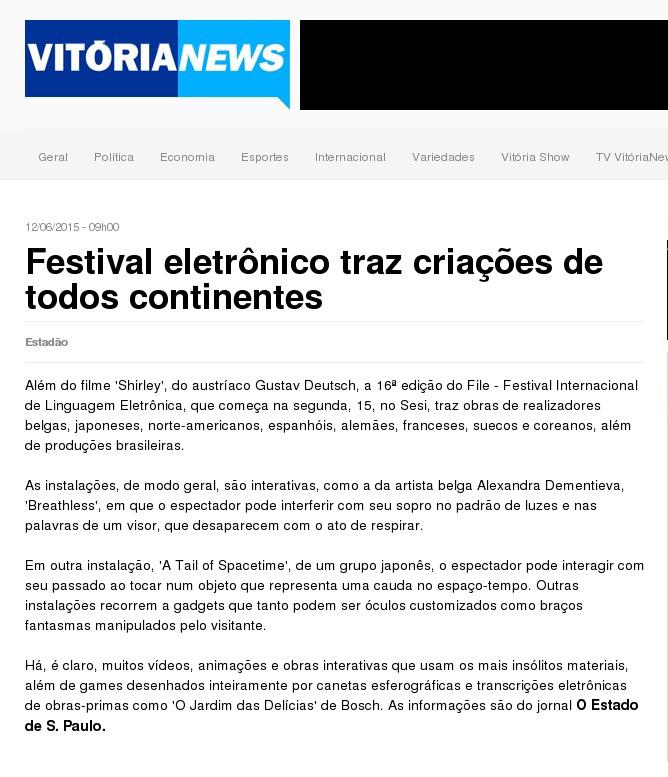 12-06-2015 - Vitória News - ES