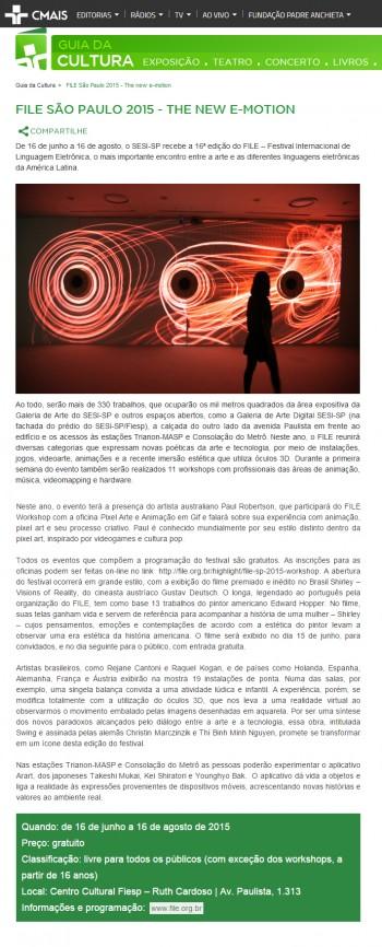 25-06-2015 - CMais - SP